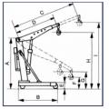 Επαγγελματικό υδραυλικό πτυσσόμενο γερανάκι βαρέως τύπου EXPRESS G1000
